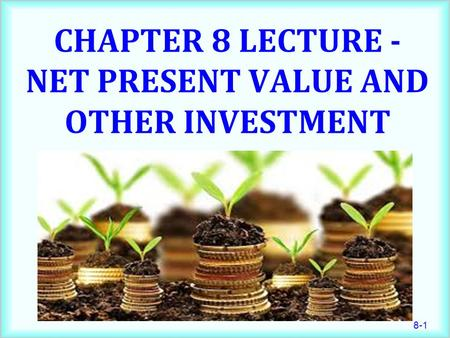Chapter 8 Lecture - Net Present Value and Other Investment Criteria