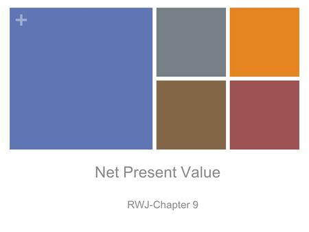 Net Present Value RWJ-Chapter 9.