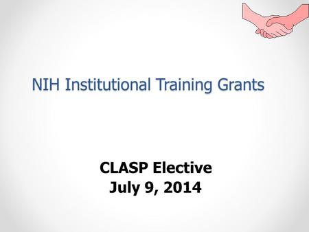 nih grant writing workshop