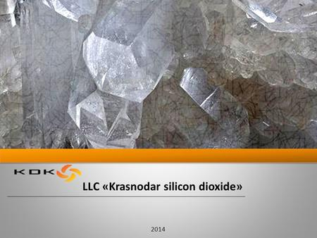 LLC «Krasnodar silicon dioxide» 2014. About us 2 Purpose: production of power plants that are: based on eco-friendly and low-waste technologies work at.