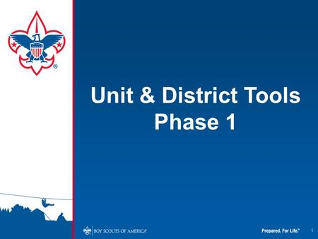 1 Unit & District Tools Phase 1. 2 To access the new Unit and District Tools, you will need to click on the link embedded in the MyScouting Flash page.