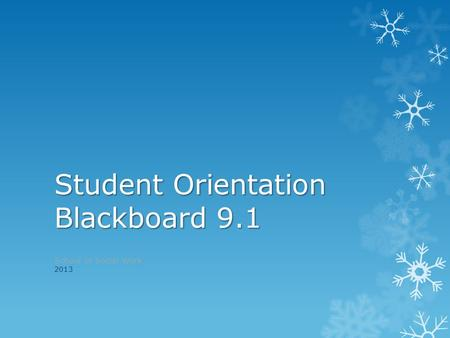 blackboard student orientation essay As a student at ualr, you will likely have to use blackboard each semester to  access your online courses or the online component of your face-to-face courses.