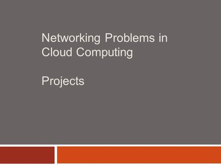 Networking Problems in Cloud Computing Projects. 2 Kickass: Implementation PROJECT 1.