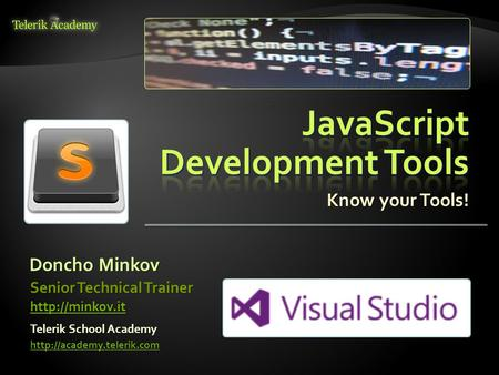 JavaScript Development Tools