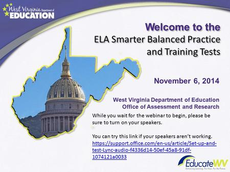 Welcome to the ELA Smarter Balanced Practice and Training Tests