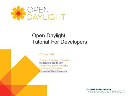 Open Daylight Tutorial For Developers