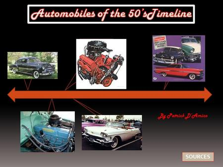 SOURCES By Patrick D'Amico. New Styles  High off ground  Rounded Bodies  Large cars  250 Straight Six.