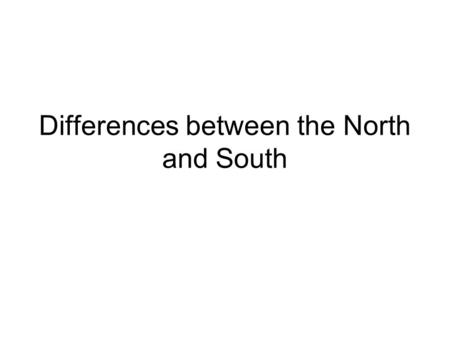 north and south growing together the differences it makes essay North and south is a social novel by english writer elizabeth gaskell with wives and daughters (1865 ) and cranford (1853), it is one of her best-known novels and.