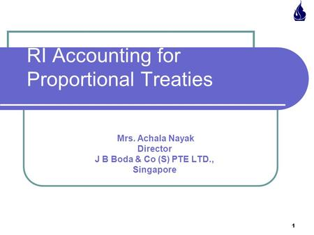 RI <strong>Accounting</strong> for Proportional Treaties