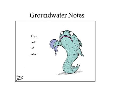 Groundwater Notes. Porous or Porosity Amount of empty space or voids in a solid material Measured as a percentage Examples: