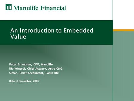 An Introduction to Embedded Value