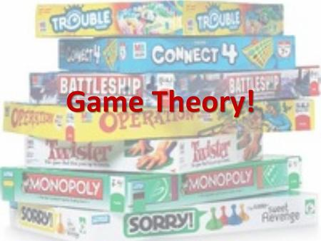 Game Theory!. Cartels A group of suppliers who try to act together in order to reduce supply, raise prices, and increase profits. A group of suppliers.