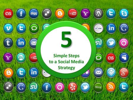 Simple Steps to a Social Media Strategy. 5 Step 5 Simple Steps to a Social Media Strategy - Cheat Sheet 1 Define your audience Business or consumer? Demographics.