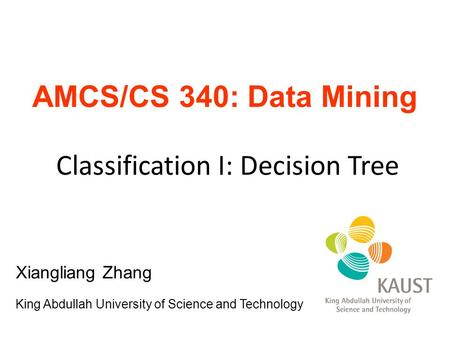 Classification I: Decision Tree