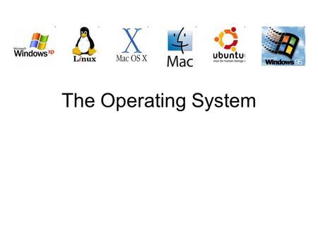 The Operating System. What is an Operating System? The program that is loaded first and manages the hardware resources like main memory, backing storage.