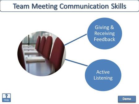 Help Giving & Receiving Feedback Active Listening.