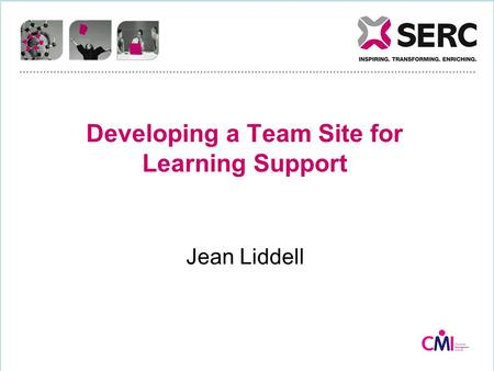 Developing a Team Site for Learning Support Jean Liddell.