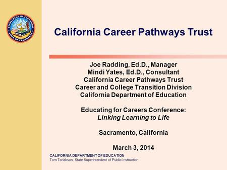 California Career Pathways Trust