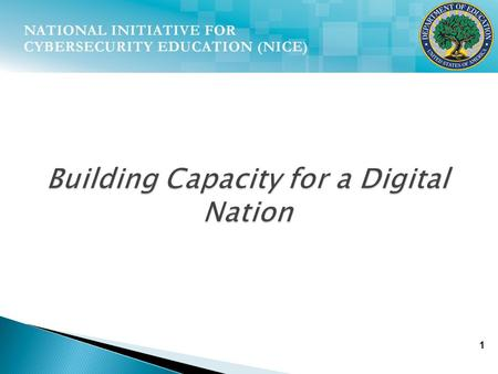 1 Building Capacity for a Digital Nation. 2 …we will begin a national campaign to promote cybersecurity awareness and digital literacy from our boardrooms.