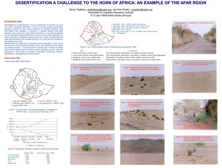 1. Hyper-arid (PR/PET < 0.02) 3. Semi-arid (0.20  RR/PET < 0.5) 5. Humid (R/PET> 0.65) Figure 1. Dry land areas in Ethiopia delineated on the bases of.