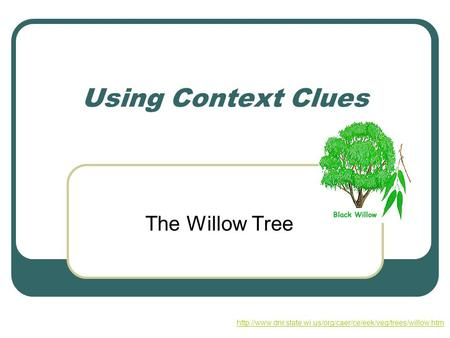 Using Context Clues The Willow Tree
