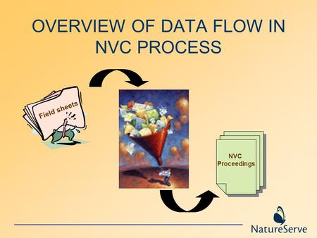 OVERVIEW OF DATA FLOW IN NVC PROCESS Field sheets NVC Proceedings.