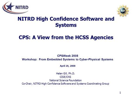 Workshop: From Embedded Systems to Cyber-Physical Systems