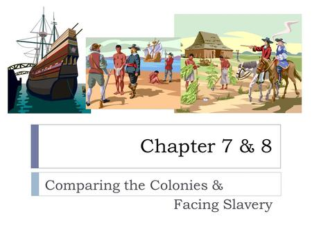 Chapter 7 & 8 Comparing the Colonies & Facing Slavery.