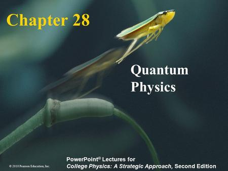 Chapter 28 Quantum Physics.