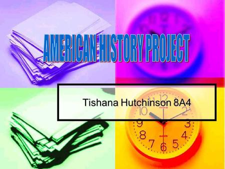 Tishana Hutchinson 8A4. The First Americans The first people to occupy the area of the United States were Native Americans. The first people to occupy.