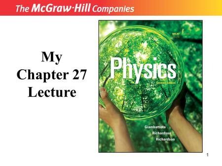 1 My Chapter 27 Lecture. 2 Chapter 27: Early Quantum Physics and the Photon Blackbody Radiation The Photoelectric Effect Compton Scattering Early Models.