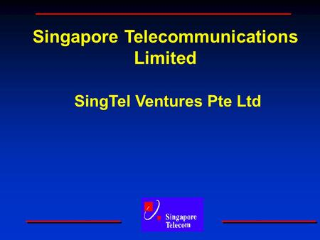 Singapore Telecommunications Limited SingTel Ventures Pte Ltd.
