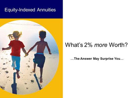 …The Answer May Surprise You… Equity-Indexed Annuities What's 2% more Worth?