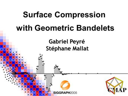 Surface Compression with Geometric Bandelets Gabriel Peyré Stéphane Mallat.