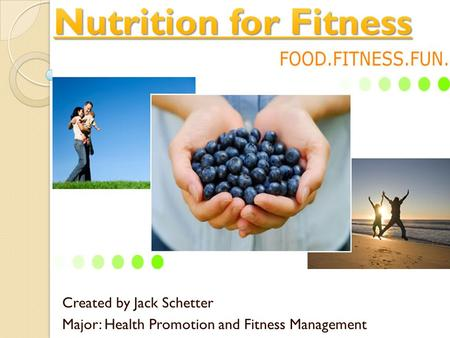 Created by Jack Schetter Major: Health Promotion and Fitness Management.