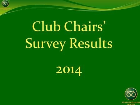 Club Chairs' Survey Results 2014. Aim of the survey To gather some baseline data in order to assess our future performance To better assist the clubs.