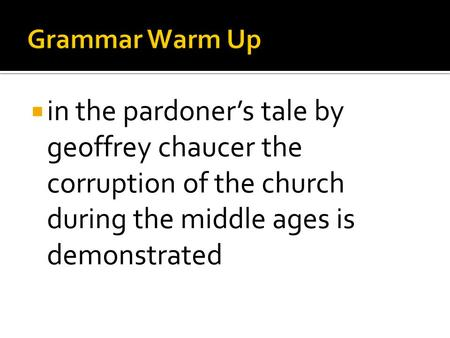"""characterization of the pardoner essay This list of important quotations from """"the canterbury tales"""" by chaucer will help you work with the essay topics and thesis statements above by allowing you to."""
