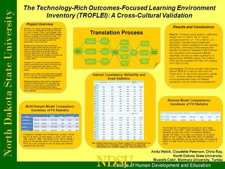 The Technology-Rich Outcomes-Focused Learning Environment Inventory (TROFLEI): A Cross-Cultural Validation Anita Welch, Claudette Peterson, Chris Ray,