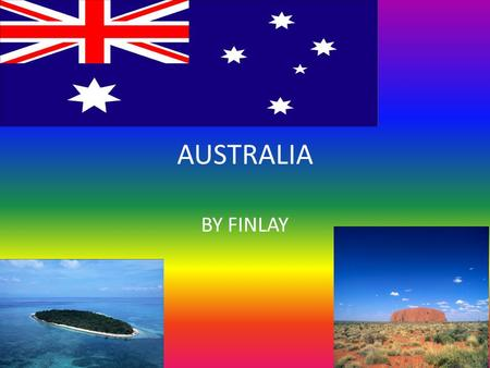 AUSTRALIA BY FINLAY. WESTERN AUSTRALIA The flag: The Western Australian flag has the union jack and the black swan witch represents it is the only state.