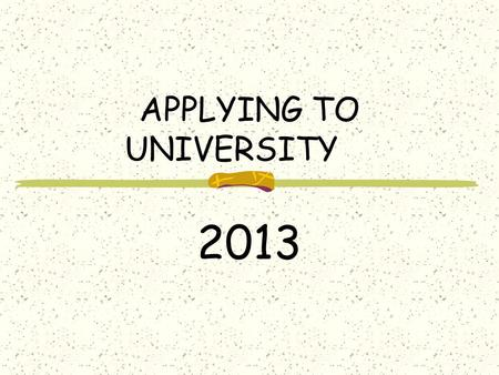 APPLYING TO UNIVERSITY 2013. GRADE 12 COUNSELLORS A – MMiss Kneschewitsch N – Z Ms. Mohamed.
