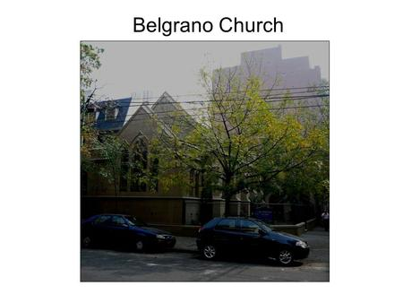 "Belgrano Church. Temperley Church EPC ""Essentials"" statement in Spanish, which appears on a sign of a daughter church of Temperley."