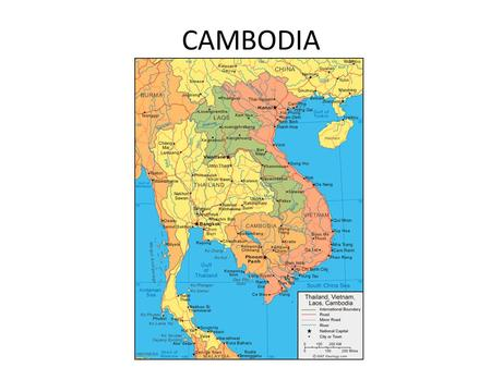 CAMBODIA. CAUSES The 1950s French colonization left political instability and civil unrest which was fuelled by the spill over of the Vietnam war. Three.