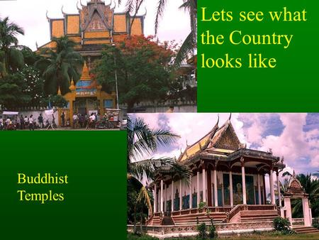 Lets see what the Country looks like Buddhist Temples.