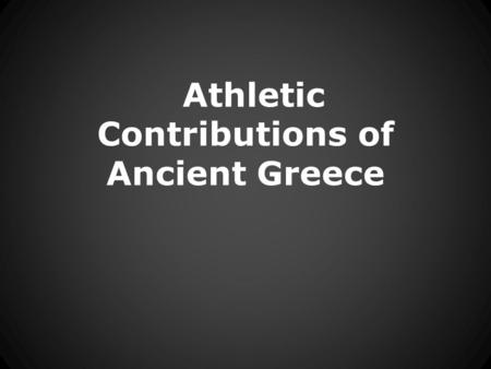 Athletic Contributions of Ancient Greece. Ancient Olympic Race  images/Admin/BkFill/Default_image_group/2012/6/21/1340291.