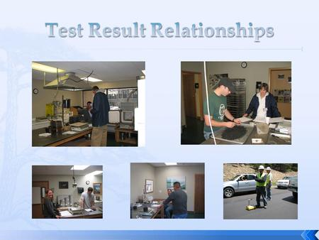 Test Result Relationships