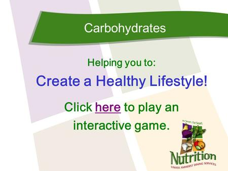 Create a Healthy Lifestyle!