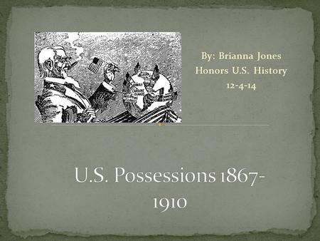 By: Brianna Jones Honors U.S. History 12-4-14. Alaska Puerto Rice Guam Midway Atolls Palmyra Atoll Wake Islands American Samoa Guantanamo Bay Possession: