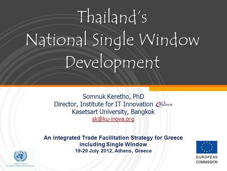 Thailand's National Single Window Development