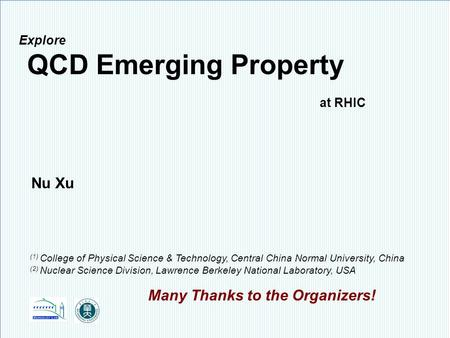 Explore QCD Emerging Property