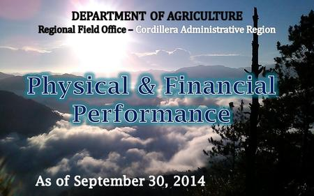 Program/ Activity/ Project Physical TargetPhysical Accomplishment Remarks Annual As of September 30 % As of September 30 MFO 2: Technical Support Services.